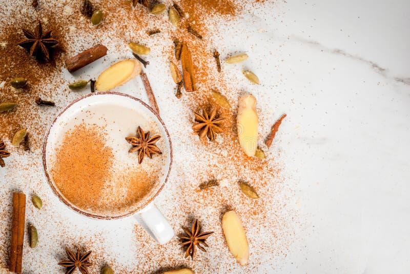 Chá indiano tradicional de chai do masala imagens de stock royalty free