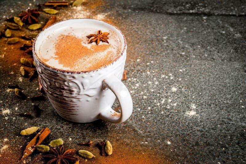 Chá indiano tradicional de chai do masala foto de stock