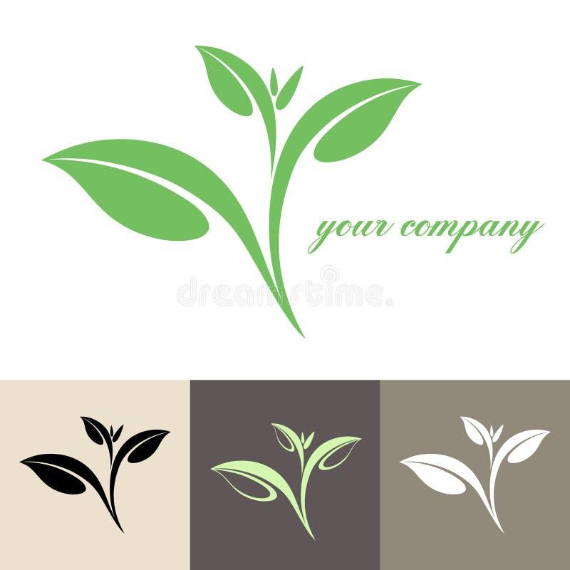 Chá. Logotipo ilustração royalty free