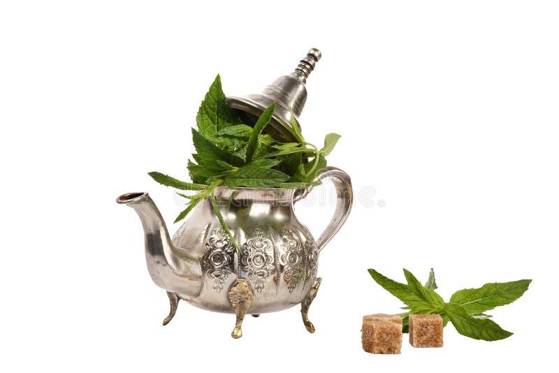 Chá marroquino da hortelã foto de stock royalty free