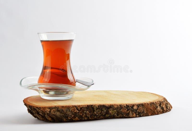Chá na placa de madeira foto de stock royalty free