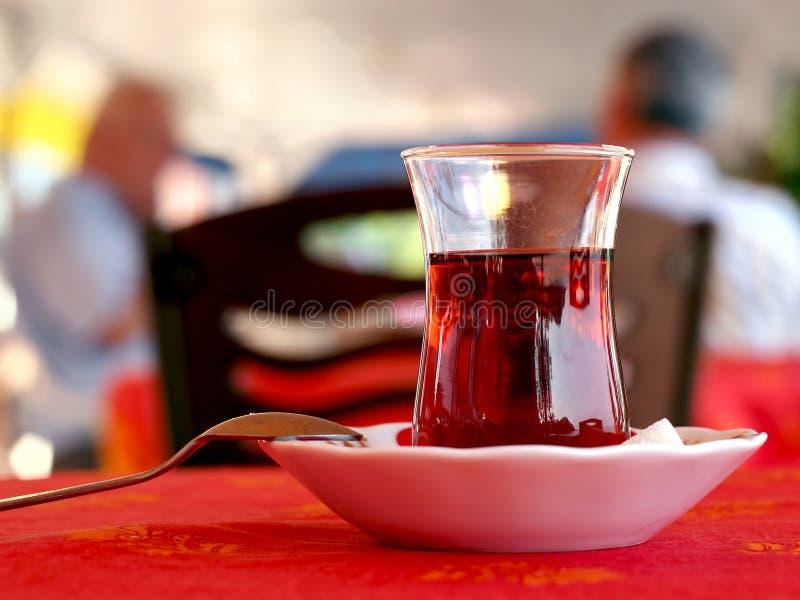 Chá no café fotografia de stock royalty free