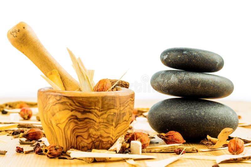 Chá para a medicina chinesa tradicional imagens de stock