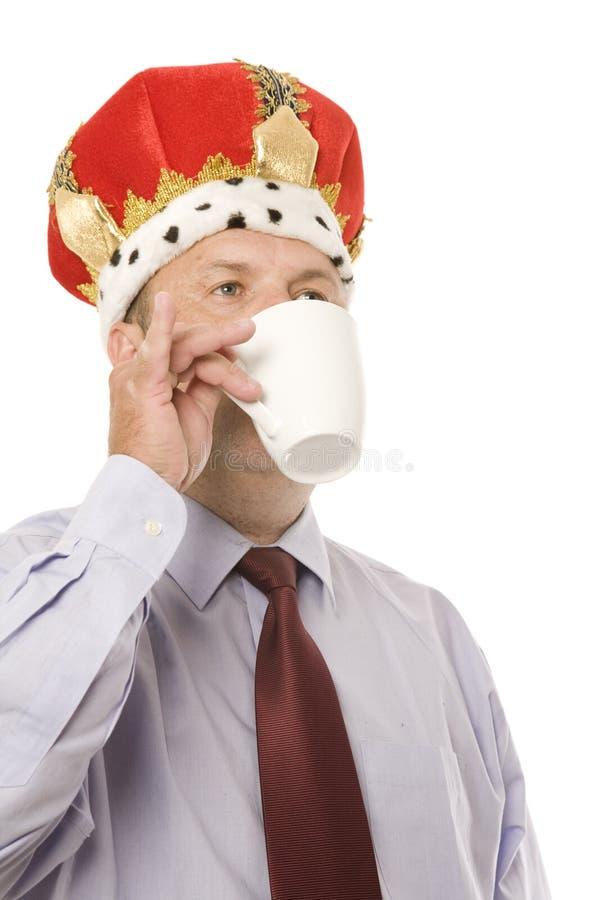Chá para o rei do negócio fotografia de stock