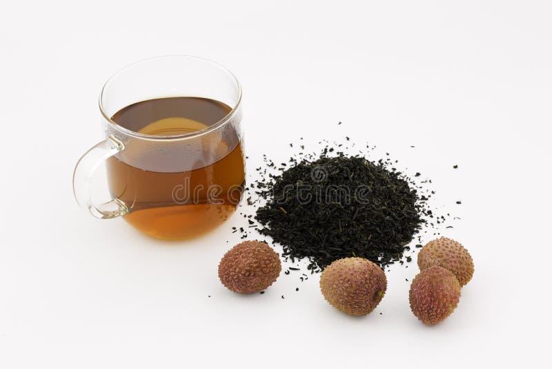 Chá preto do lichi fotografia de stock royalty free