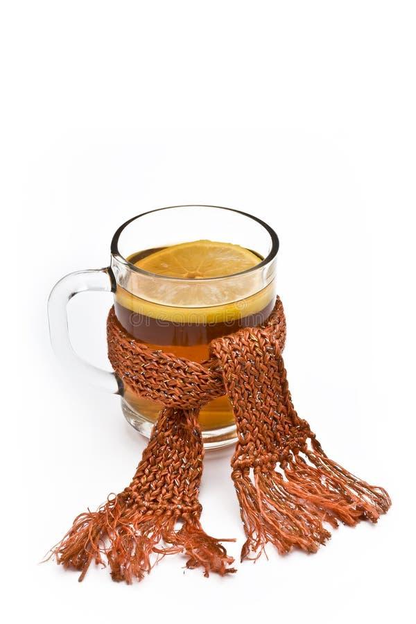 Chá quente com limão foto de stock royalty free