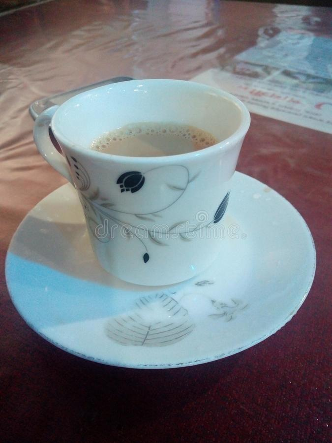 Chá quente uau imagem de stock