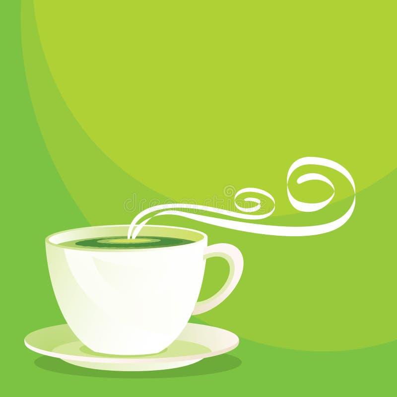 Chá verde ilustração royalty free