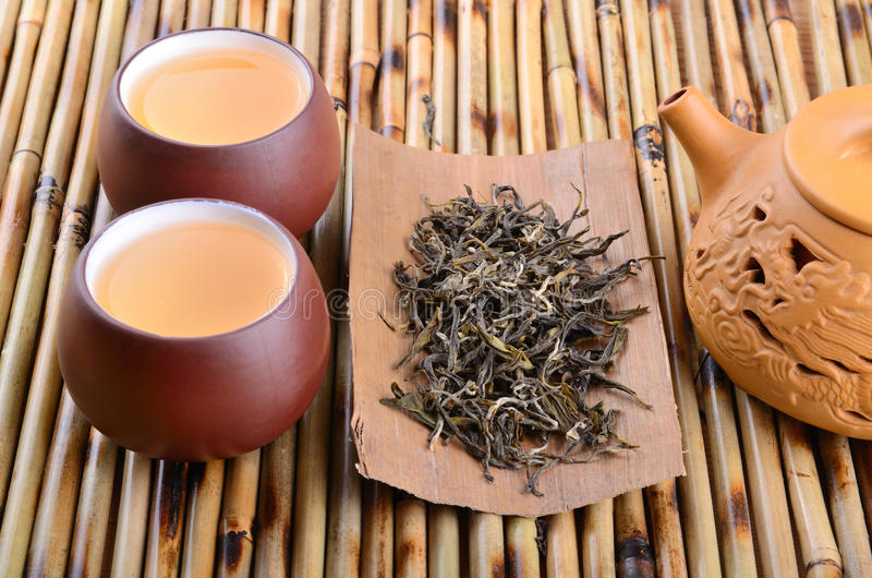 Chá verde chinês fotografia de stock royalty free
