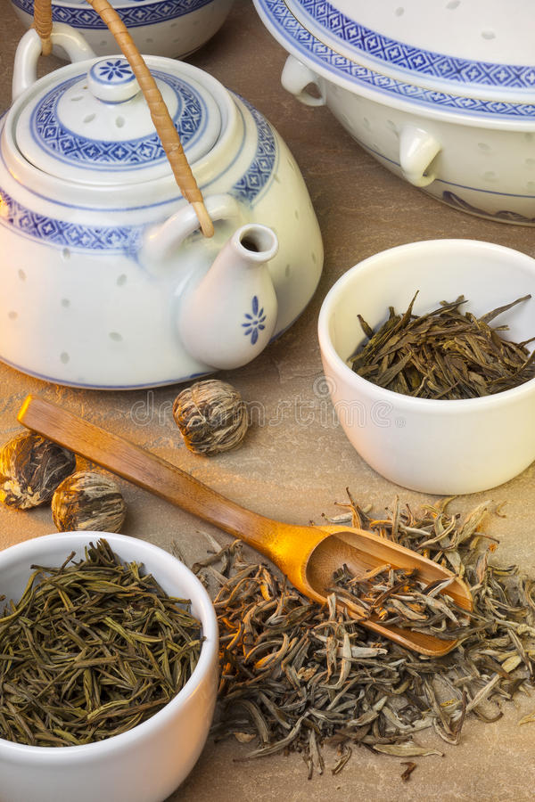 Chá verde chinês fotografia de stock