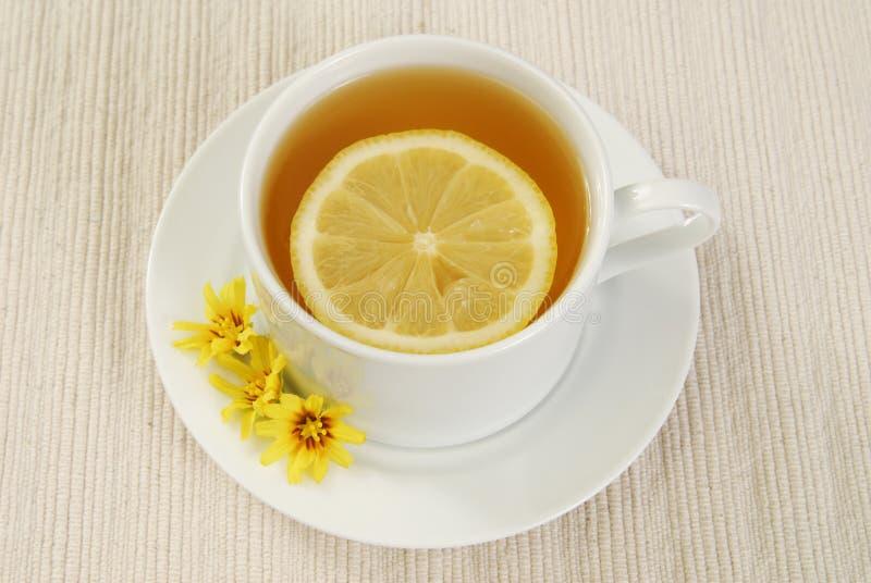 Chá verde com limão fotos de stock