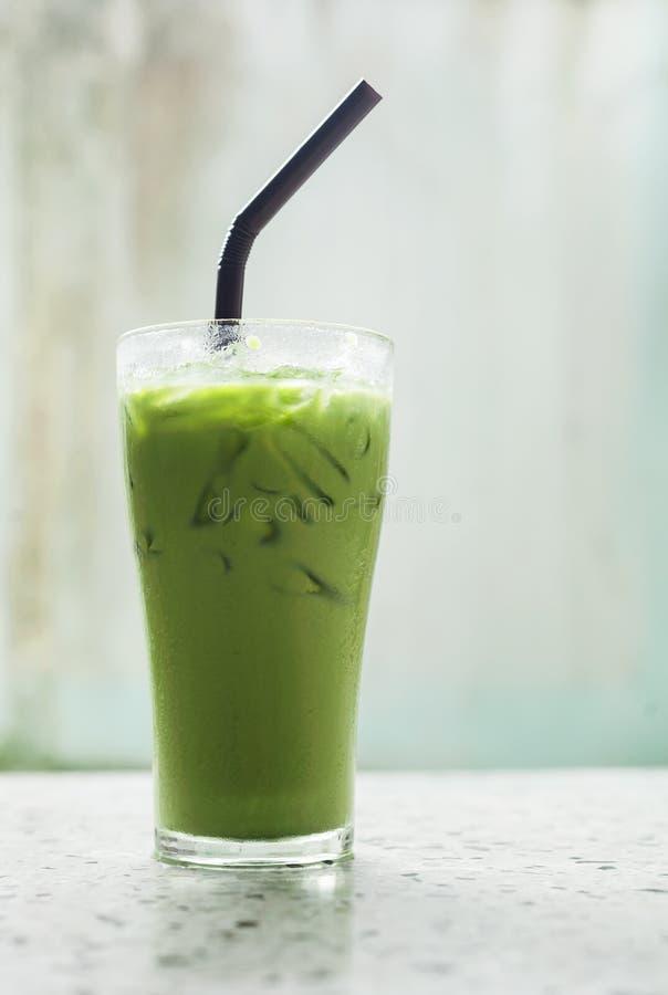 Chá verde de leite de gelo, bebida famosa fotos de stock royalty free