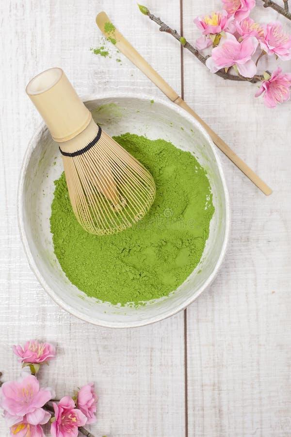 Chá verde de Matcha imagem de stock