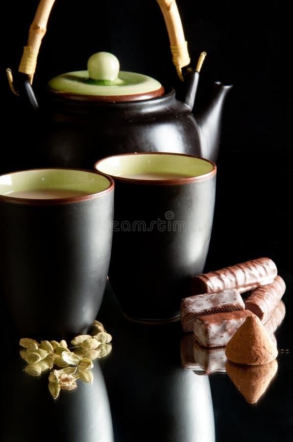 Chá verde do cardamon fotos de stock royalty free