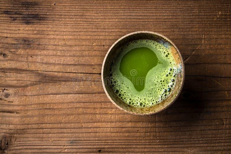 Chá verde do matcha fotografia de stock royalty free