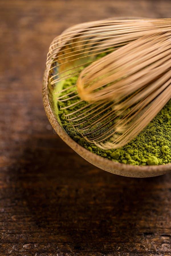 Chá verde do pó imagens de stock royalty free