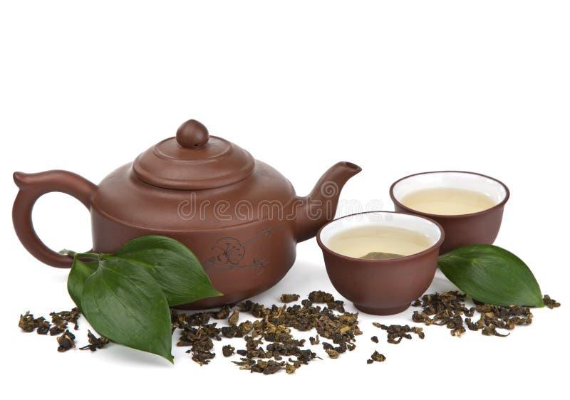 Chá verde isolado imagens de stock royalty free