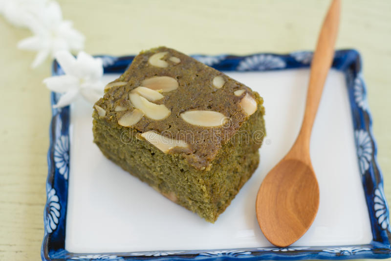 Chá verde (Matcha) Blondies foto de stock
