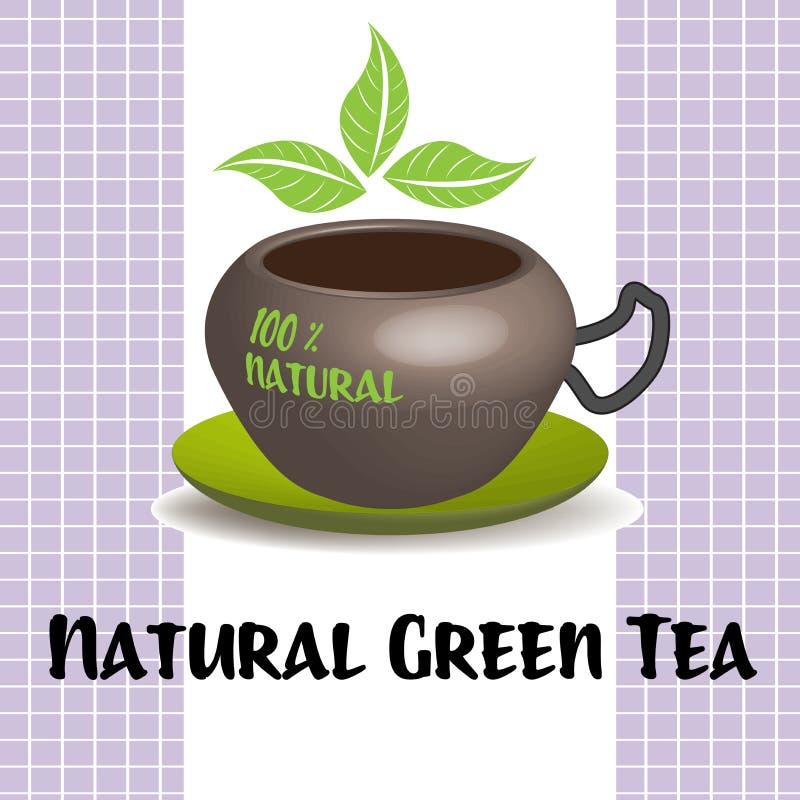 Chá verde natural ilustração stock