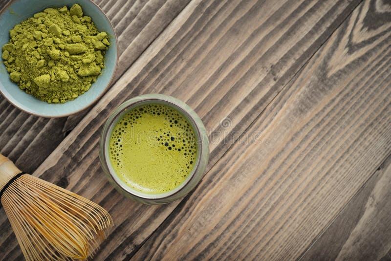 Chá verde orgânico de Matcha imagens de stock