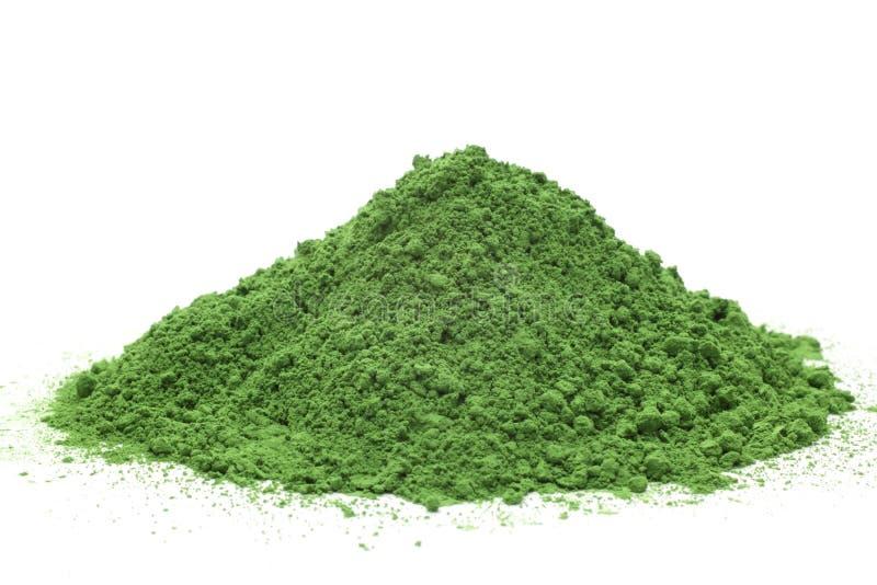 Chá verde pulverizado imagens de stock royalty free