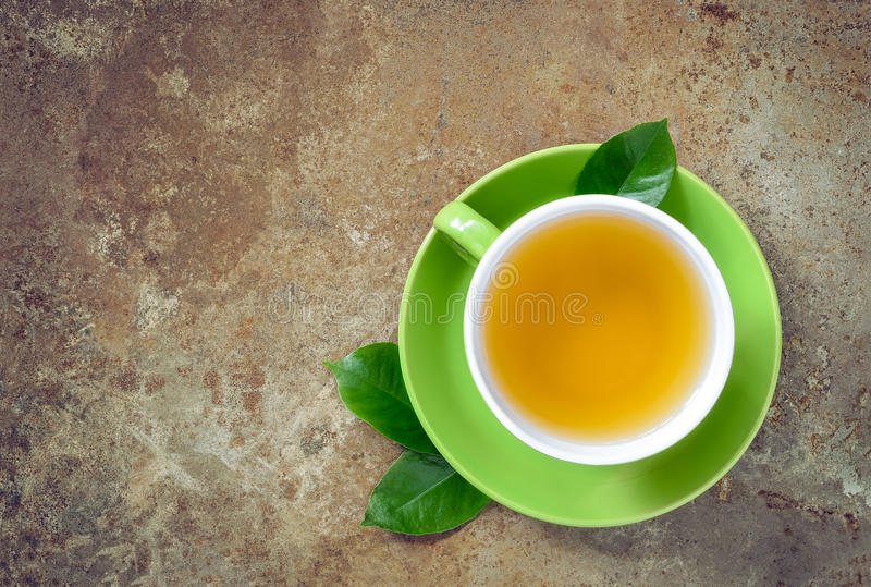 Chá verde, vista superior foto de stock royalty free