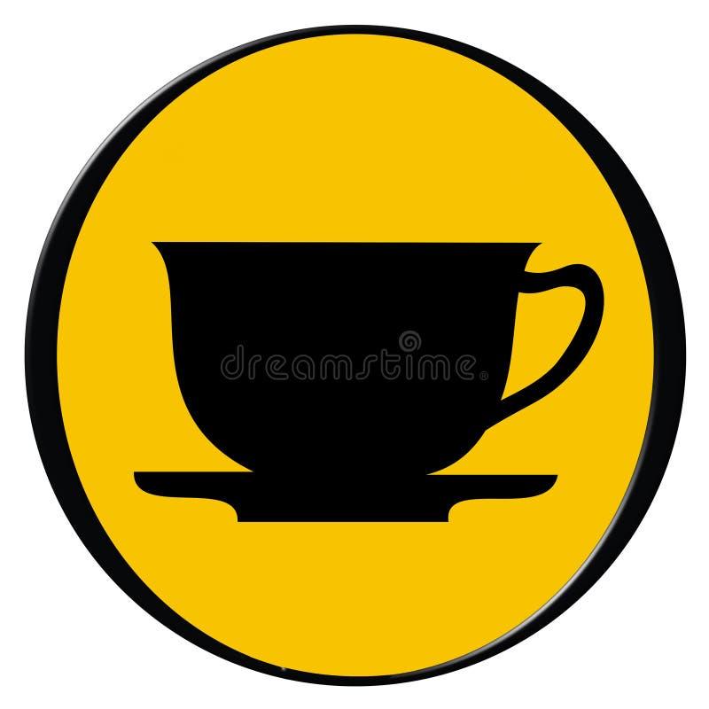 Chávena de café - ícone ilustração stock