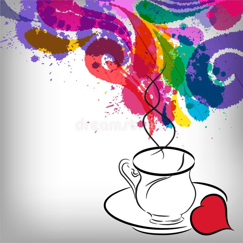 Chávena de café ilustração do vetor