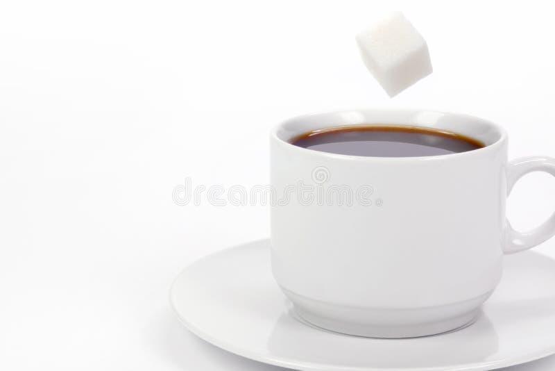 Chávena de café com açúcar imagens de stock royalty free