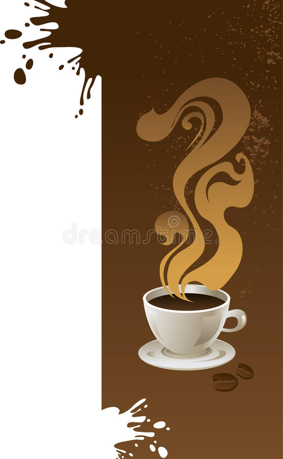Chávena de café com fundo abstrato. ilustração stock