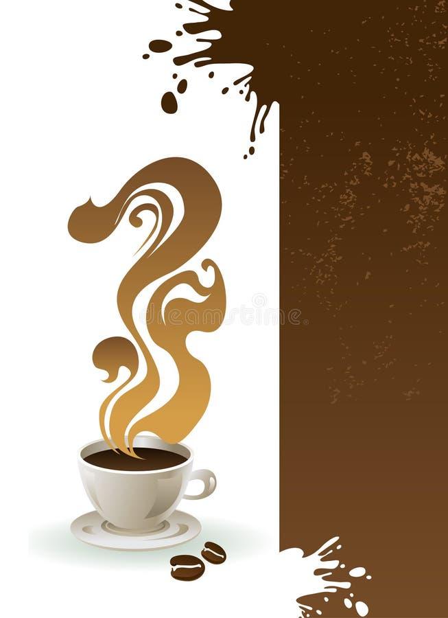 Chávena de café com fundo abstrato. ilustração royalty free