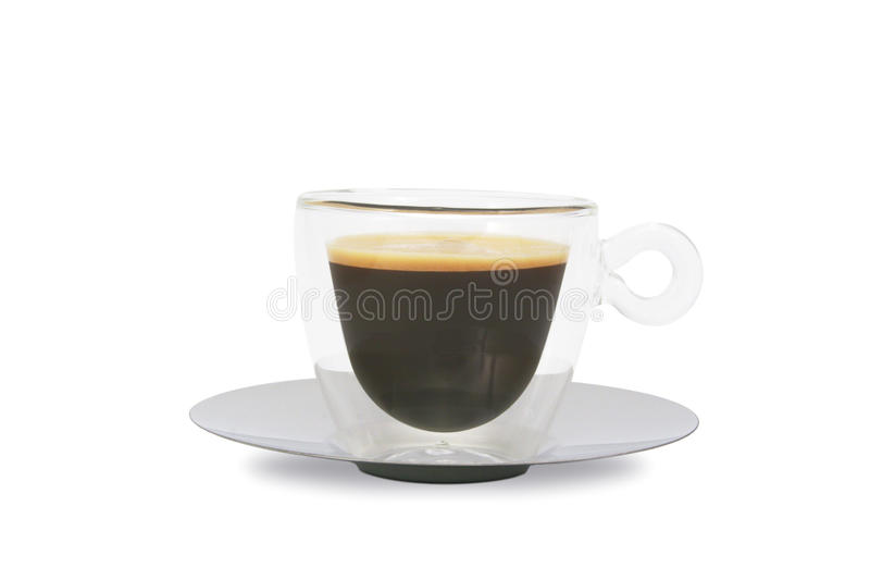 Chávena de café de vidro fotografia de stock