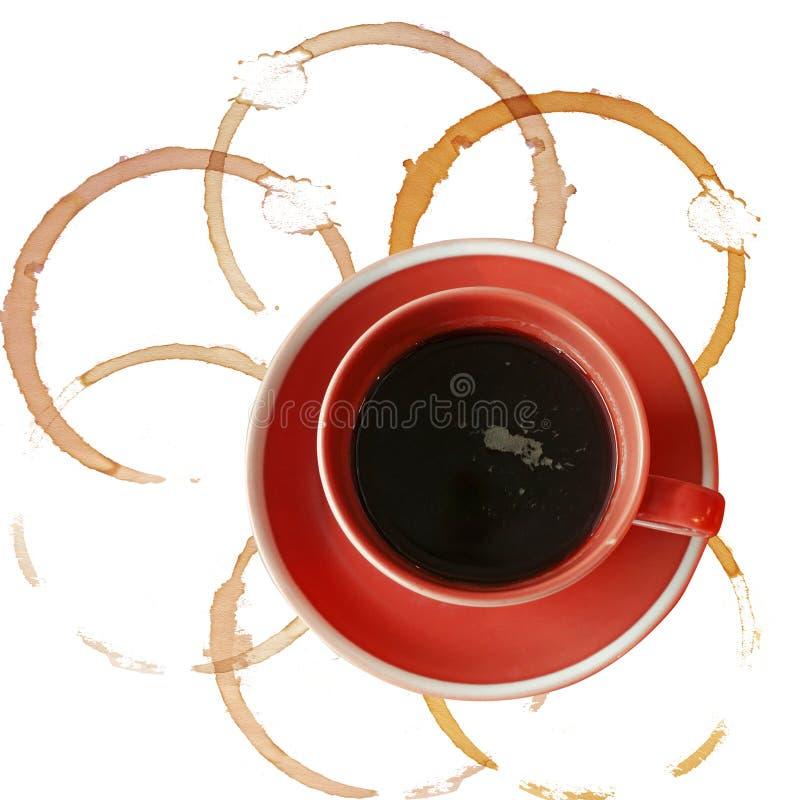 A chávena de café disparou de acima foto de stock royalty free