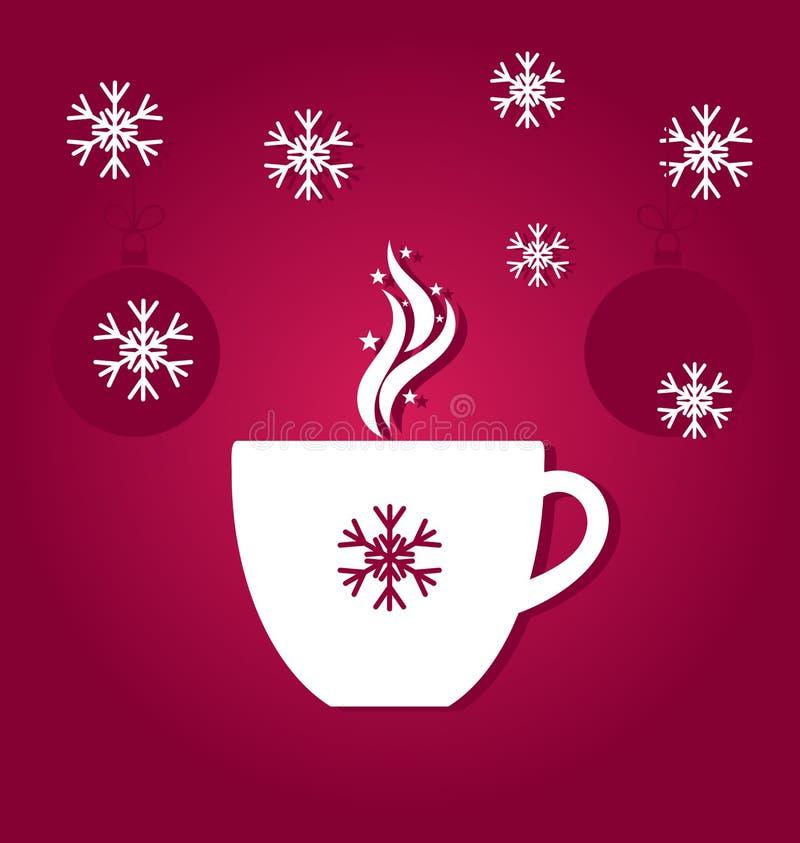 Chávena de café do Natal ilustração stock