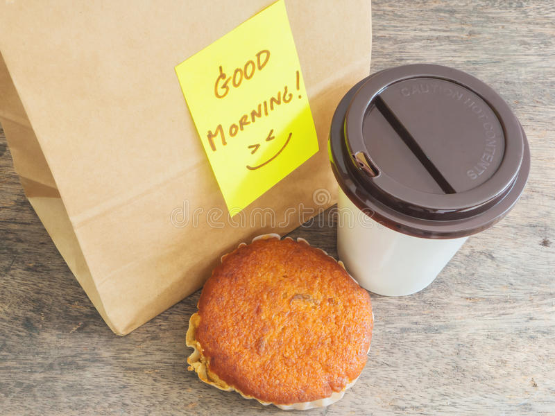 Chávena de café e queque fotografia de stock