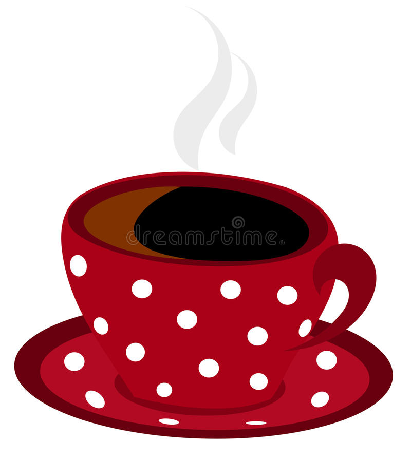 Chávena de café manchada vetor ilustração royalty free
