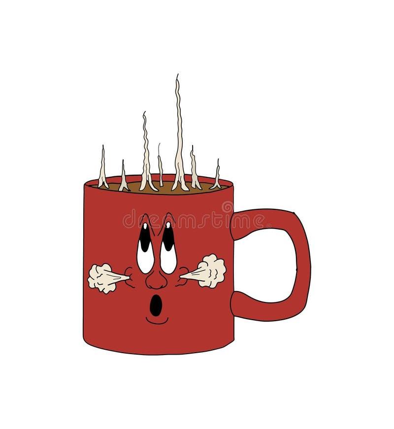 Chávena de café quente ilustração royalty free