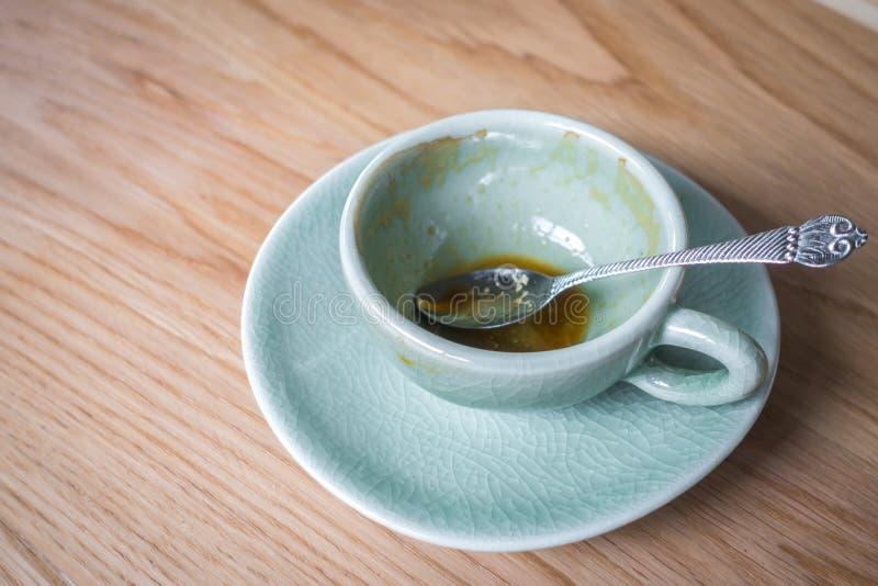 Chávena de café vazia fotografia de stock royalty free