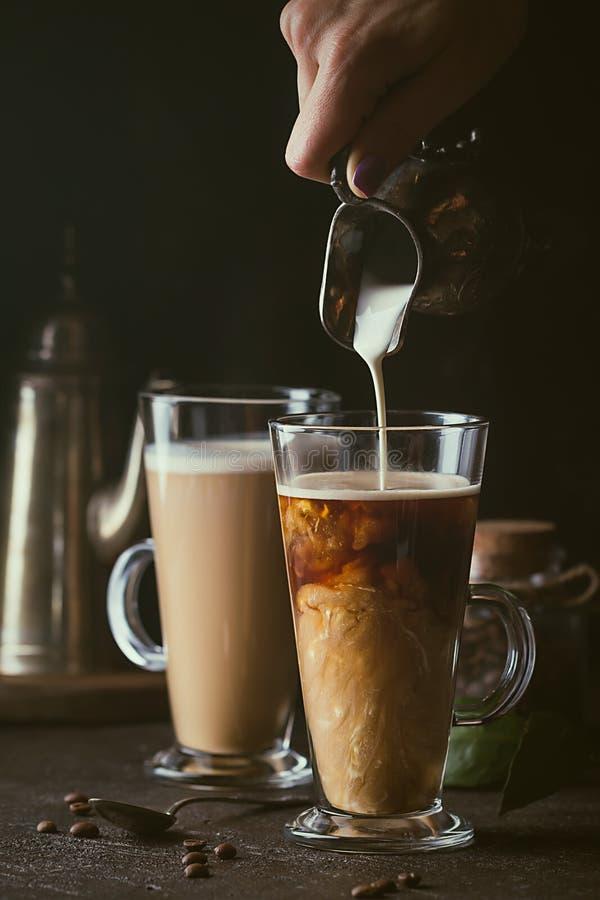 Chávena de café de vidro foto de stock royalty free