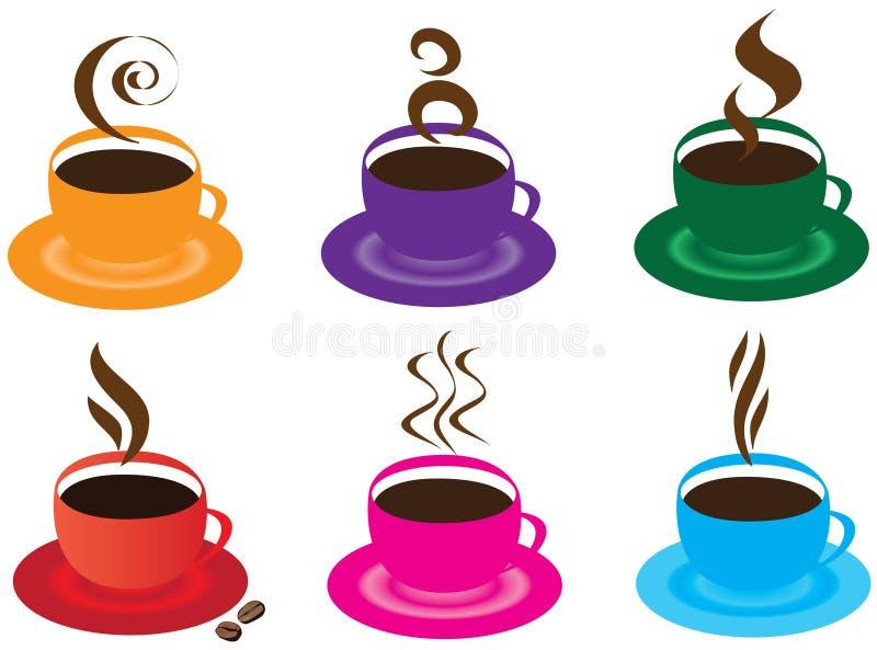 Chávenas de café ilustração stock