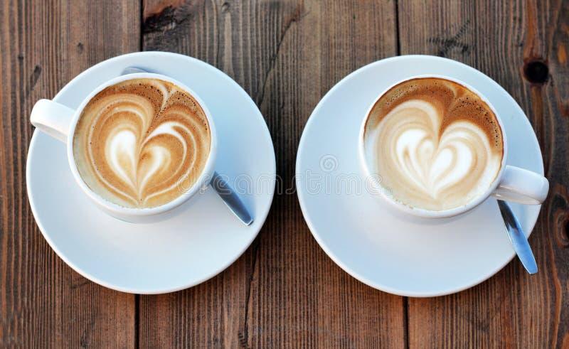 Chávenas de café fotografia de stock