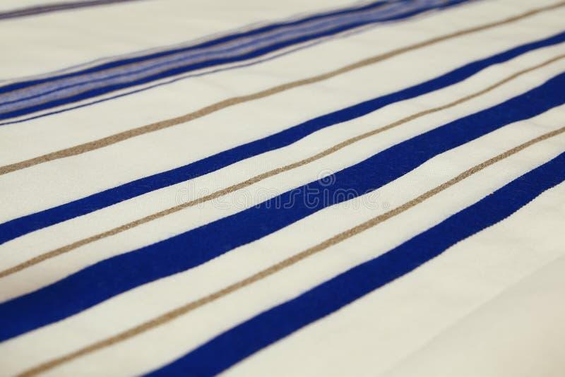 Châle de prière blanc - Tallit, symbole religieux juif photo libre de droits