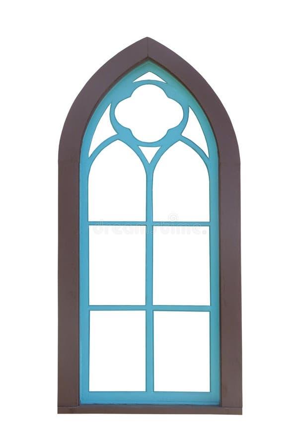 Châssis de fenêtre arqué d'isolement photo libre de droits