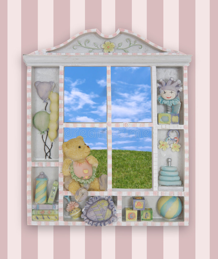 Châssis de fenêtre de Childs photos stock