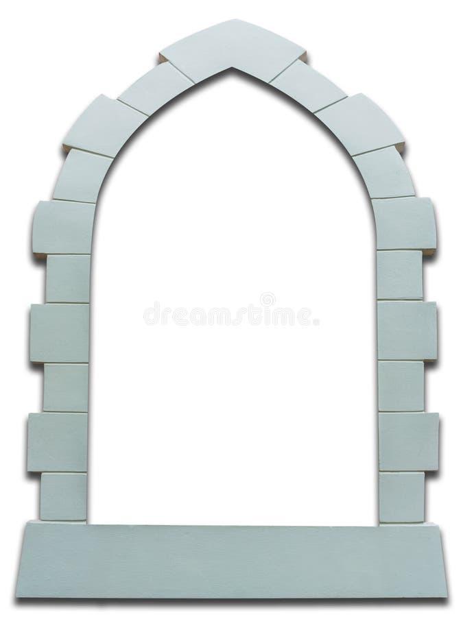Châssis de fenêtre gothique de vintage d'isolement sur le blanc photo libre de droits