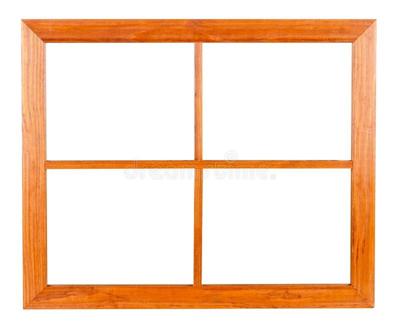 Châssis de fenêtre résidentiel sur le blanc image stock