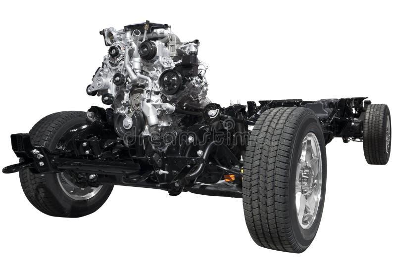 Châssis de véhicule avec l'engine photos libres de droits