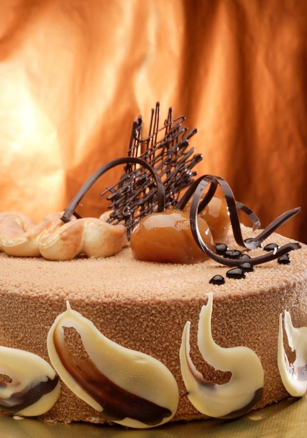 châtaigne de gâteau images stock