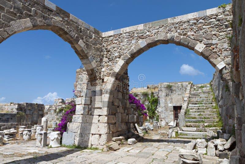 Château à l'île de Kos en Grèce photographie stock libre de droits
