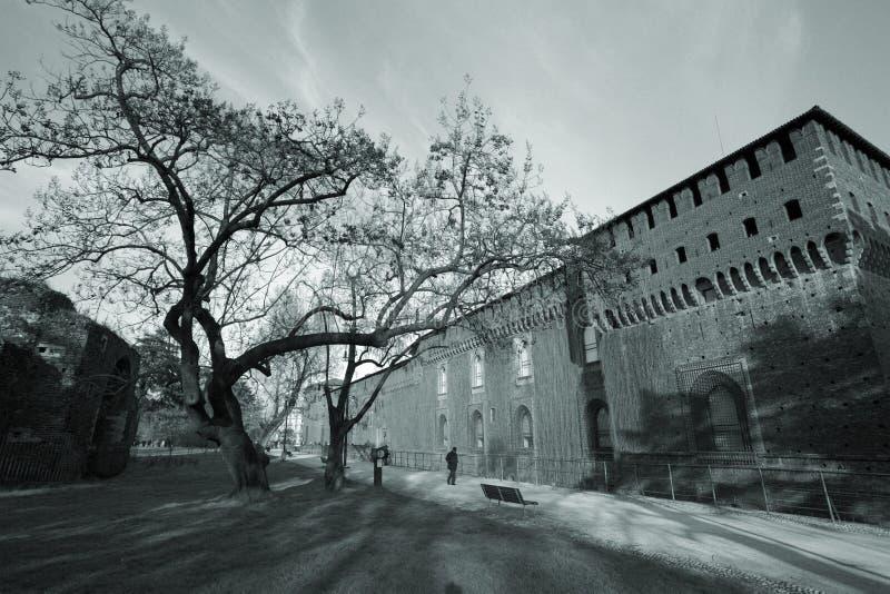 Château à Milan photographie stock libre de droits